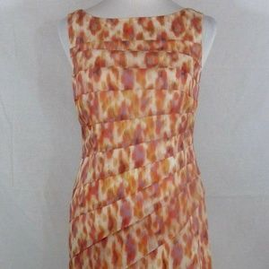 Ann Taylor size 2 Silk Blend Multi Color Tiered